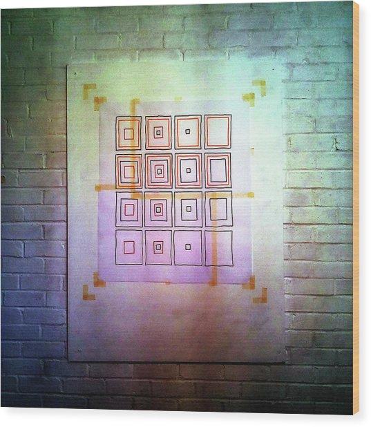 Cyclic Squares - 24 Wood Print
