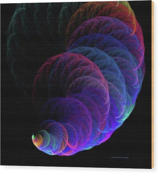 Cyclonic Action Wood Print