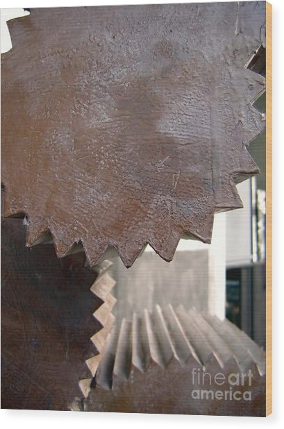 Cylindrical Gears Wood Print