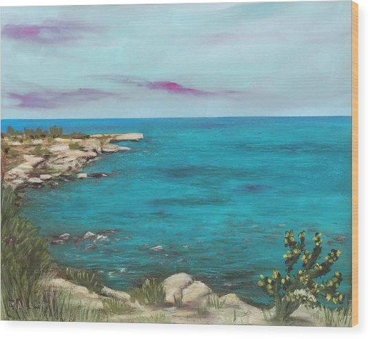 Wood Print featuring the painting Cyprus - Protaras by Anastasiya Malakhova