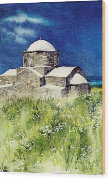Cyprus The Old Church Wood Print