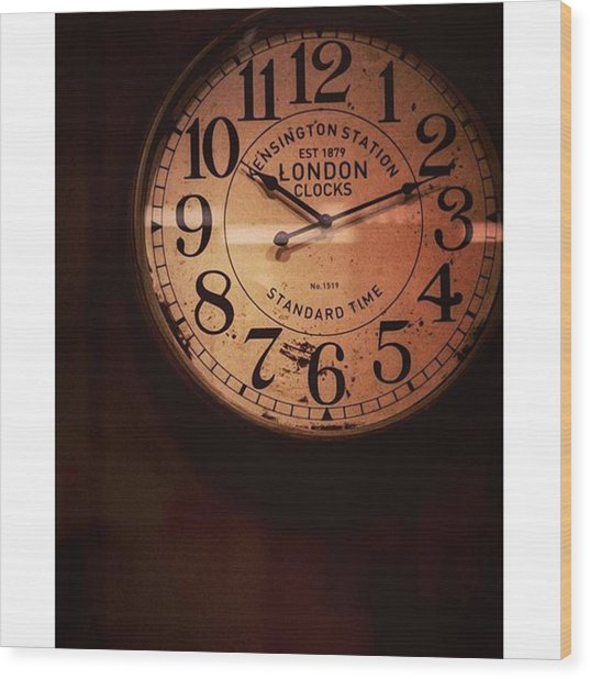 Día 4: Reloj. #project365 Wood Print