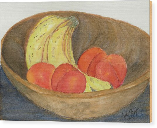 Daddy's Wooden Bowl Wood Print