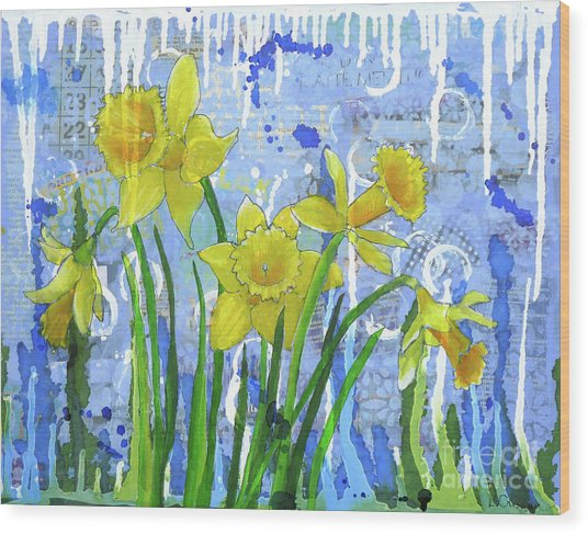 Daffodil Ding Dongs Wood Print
