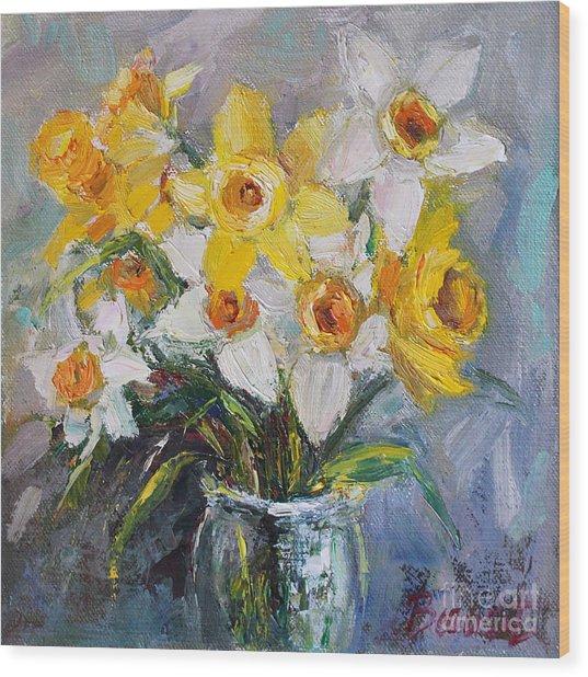 Daffodil In Spring  Wood Print