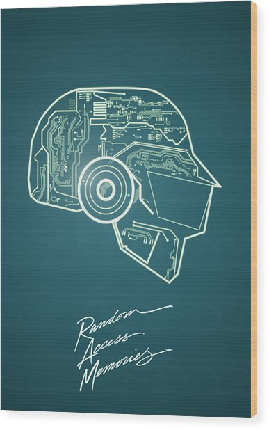Daft Punk Thomas Poster Random Access Memories Digital Illustration Print Wood Print