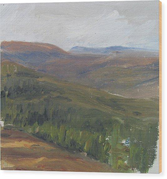 Dagrar Over Salenfjallen - Shifting Daylight Over Distant Horizon 1 Of 10_0034 50x50 Cm Wood Print