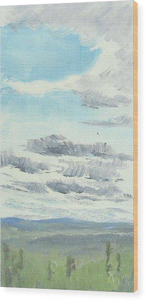 Dagrar Over Salenfjallen- Shifting Daylight Over Distant Horizon 10 Of 10_0029 Wood Print