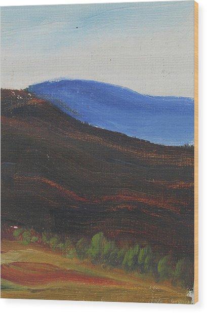 Dagrar Over Salenfjallen- Shifting Daylight Over Distant Horizon 2 Of 10_0035 50x40 Cm Wood Print
