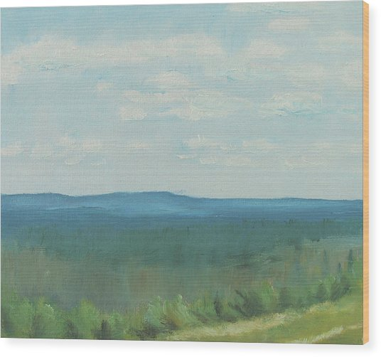 Dagrar Over Salenfjallen- Shifting Daylight Over Distant Horizon 3 Of 10_0029 50x40 Cm Wood Print