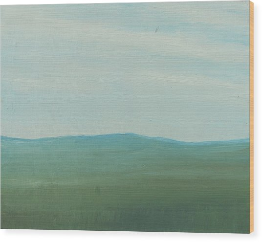 Dagrar Over Salenfjallen- Shifting Daylight Over Distant Horizon 4 Of 10_0029 51x40 Cm Wood Print