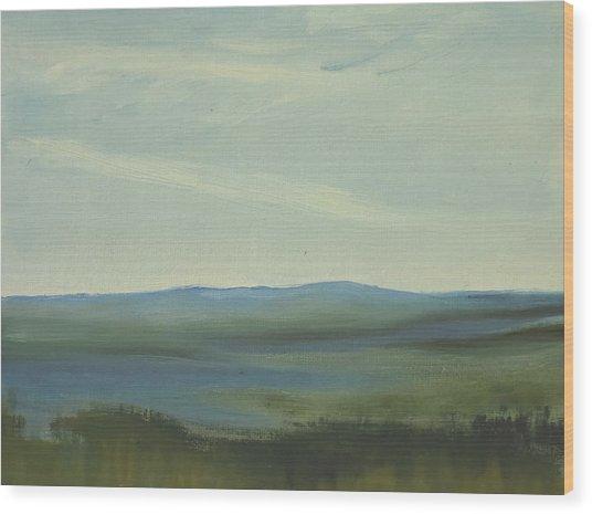 Dagrar Over Salenfjallen- Shifting Daylight Over Distant Horizon 6 Of 10 Wood Print