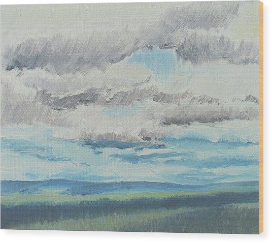 Dagrar Over Salenfjallen- Shifting Daylight Over Distant Horizon 8 Of 10_0029 Wood Print
