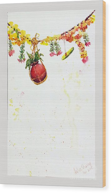 Dahi Handi Wood Print
