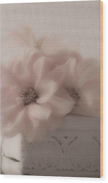 Dahlias Oh So Soft Wood Print