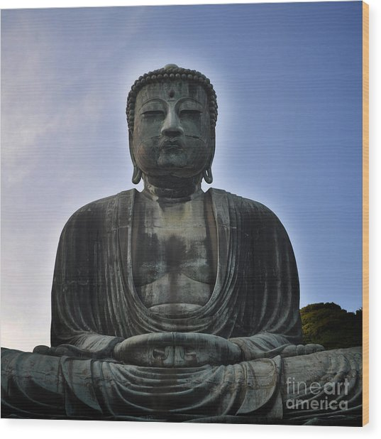 Daibutsu Buddha Wood Print