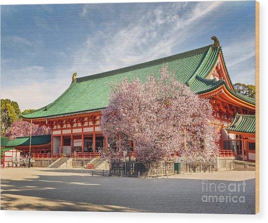 Daigukuden Main Hall Of Heian Jingu Shrine Wood Print