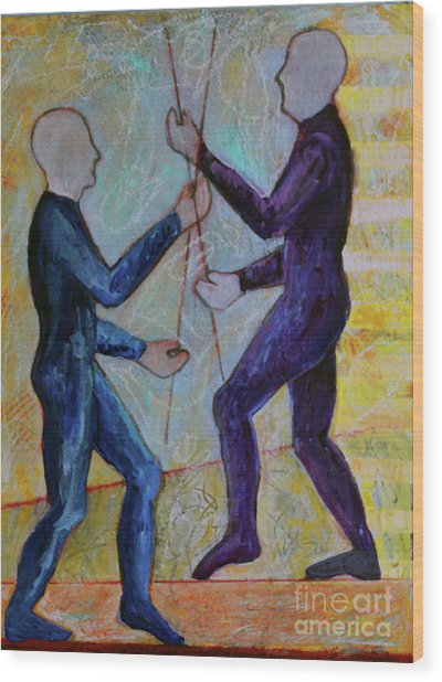 Wood Print featuring the painting Daily Balancing by Priti Lathia