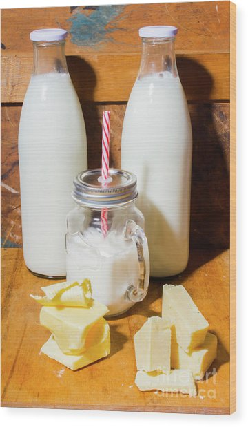Dairy Delights Wood Print