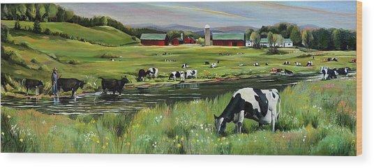 Dairy Farm Dream Wood Print