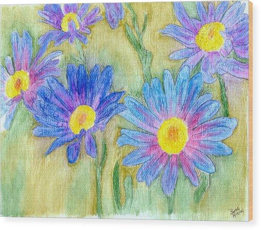 Daisey Field Wood Print by Margie  Byrne