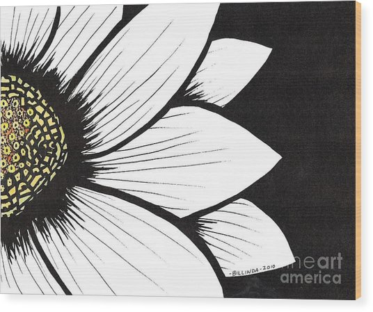 Daisy 2 Wood Print