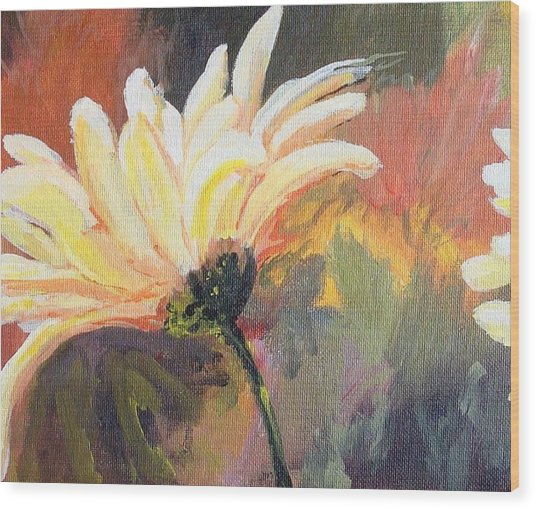 Daisy 2 Of 3 Triptych Wood Print