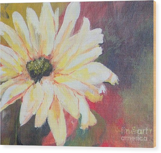 Daisy 3 Of 3 Triptych Wood Print