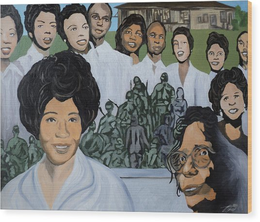 Daisy Bates And The Little Rock Nine Tribute Wood Print