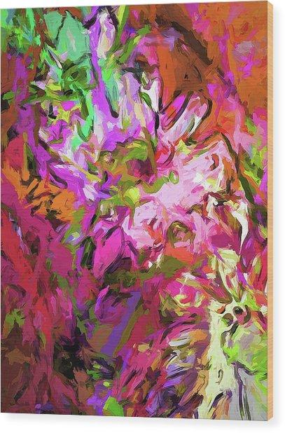 Daisy Rhapsody Petal Pink Wood Print