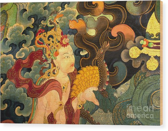 Dakini With Nagas - Sera Monastery Tibet Wood Print