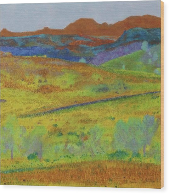 Dakota Territory Dream Wood Print