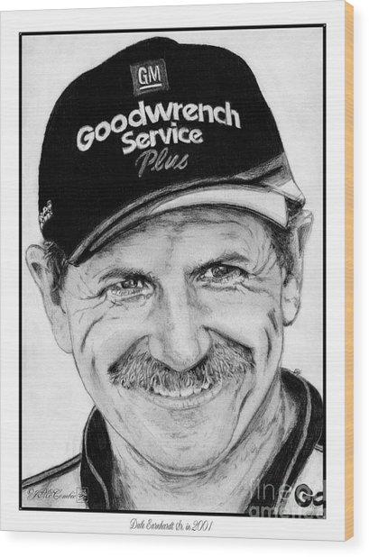 Dale Earnhardt Sr In 2001 Wood Print
