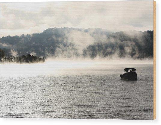 Dale Hollow Morning Fishing Wood Print