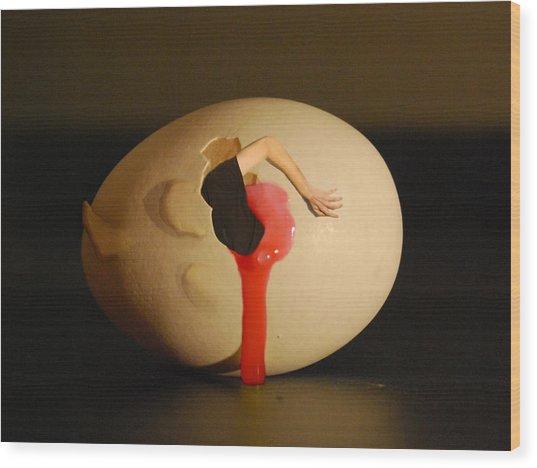 Dali Egg Wood Print by Erik Krieg