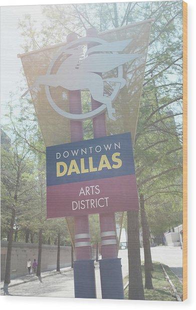 Dallas Arts District Wood Print