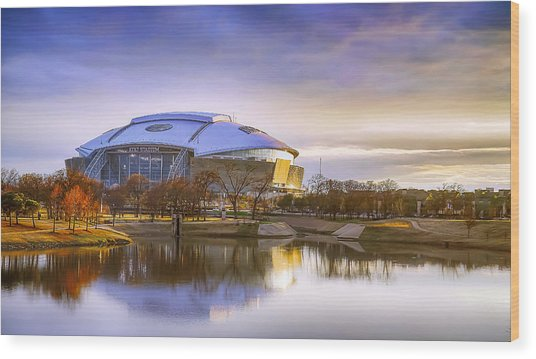 Dallas Cowboys Stadium Arlington Texas Wood Print