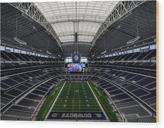Dallas Cowboys Stadium End Zone Wood Print