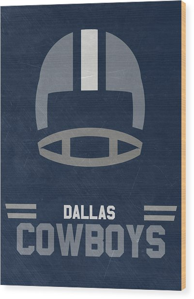 Dallas Cowboys Vintage Art Wood Print