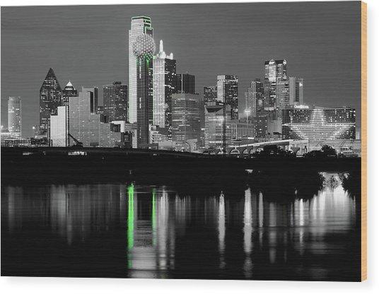 Dallas Skyline Gr91217 Wood Print