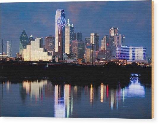 Dallas Skyline May 2015 Wood Print