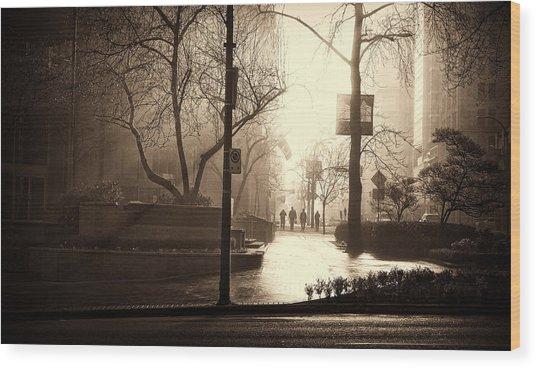 Damp Dawn Wood Print