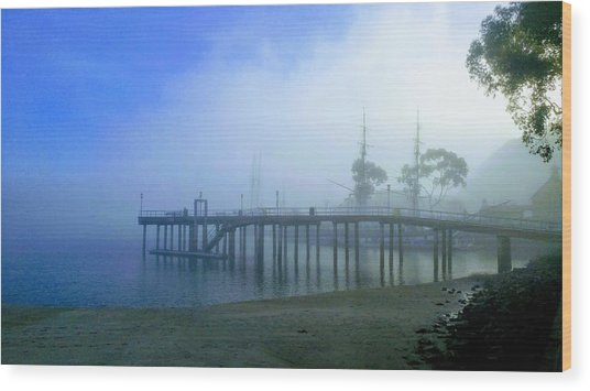Dana Point Harbor When The Fog Rolls In Wood Print