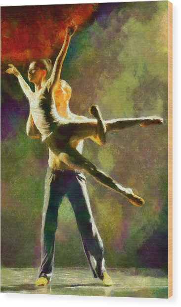 Dance 3 Wood Print