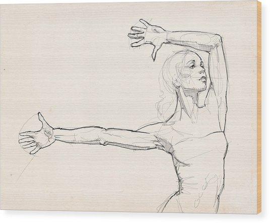 Dance Anatomy Wood Print