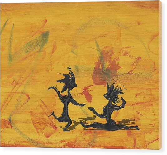Dance Art Dancing Couple 238 Wood Print