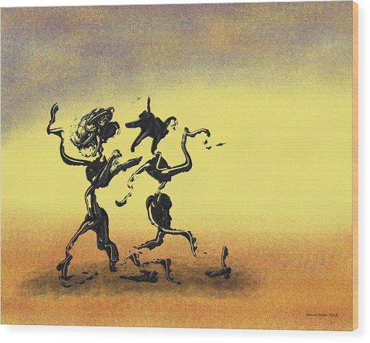 Dance I Wood Print