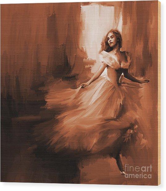 Dance In A Dream 01 Wood Print