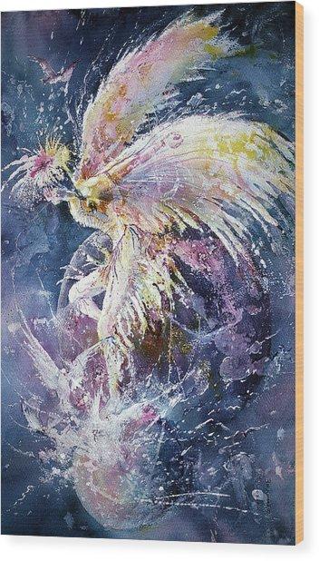 Dance In Flight Wood Print