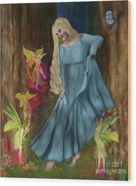 Dance Of The Fairies Wood Print by Sydne Archambault